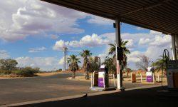 ガソリンスタンドの風景